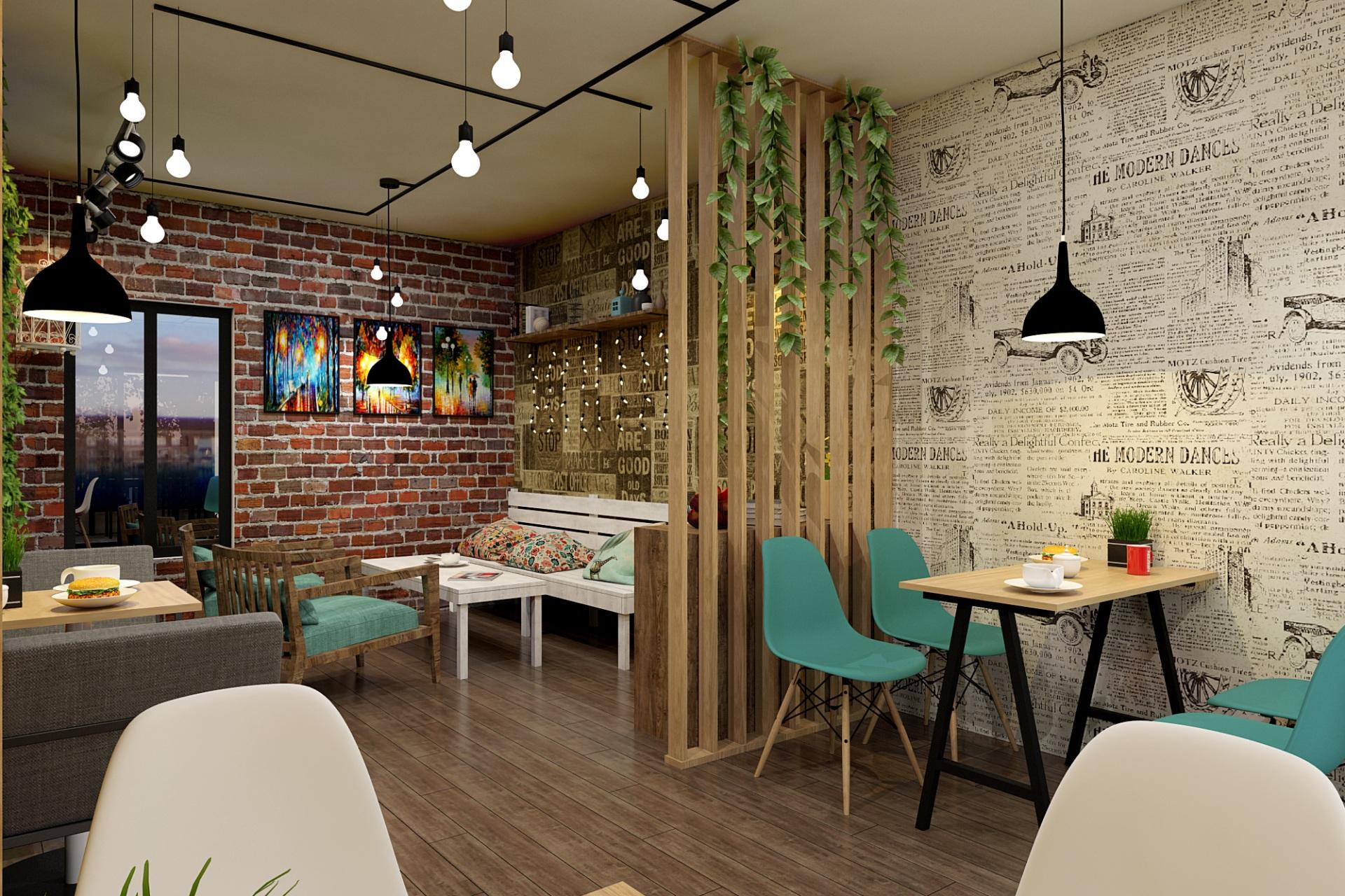 Một không gian cafe điển hình