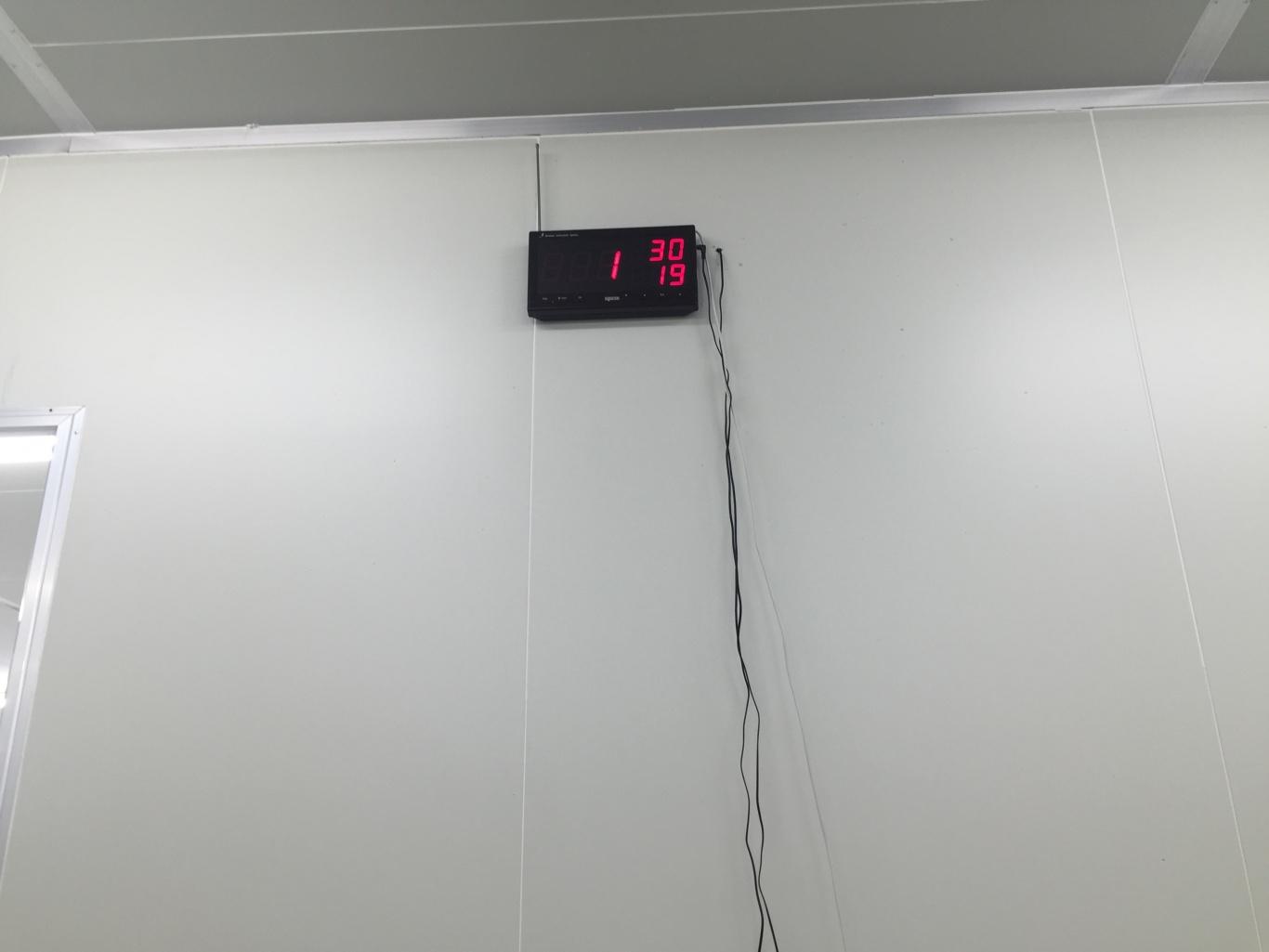 bảng thiết bị hiển thị được lắp đặt tại phòng trực