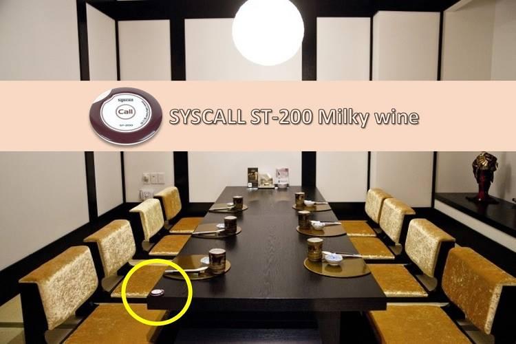 nút chuông gọi nhà hàng ST-200 được lắp đặt từng bàn