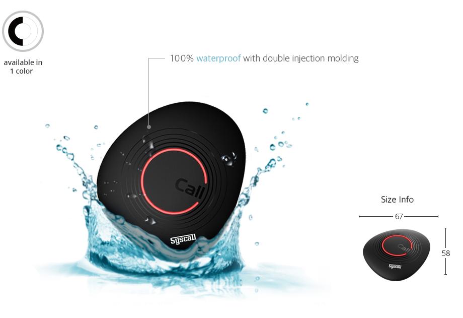 Nút chuông gọi phục vụ ST-900 có khả năng chống nước tốt