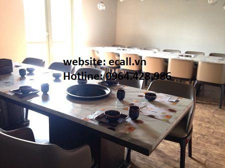 màn hình hiển thị chuông gọi phục vụ gsr-330 tại nhà hàng Steam House Restaurant