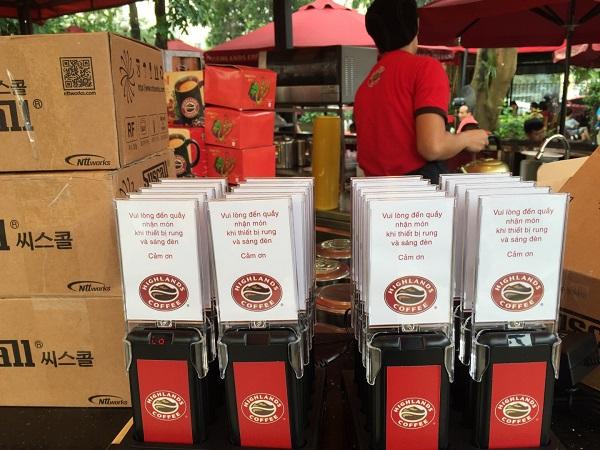 bộ thẻ báo rung lấy đồ uống của hinglands coffee