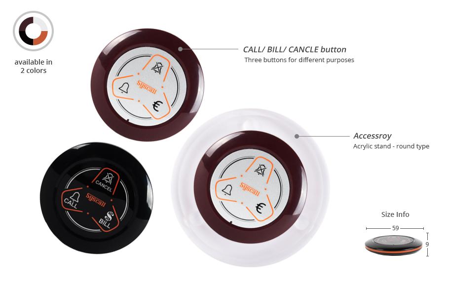 Nút chuông gọi phục vụ ST-600 không dây được nhà hàng GAXEO lựa chọn lắp đặt