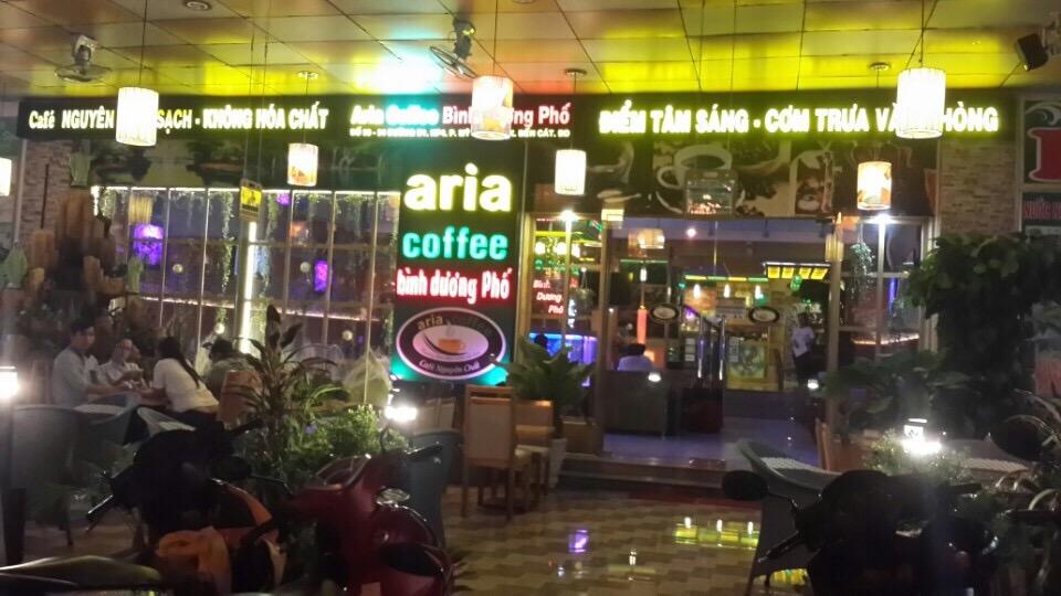 quan cafe Aria tại Bình Dương