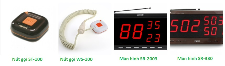 Thành phần hệ thống chuông gọi y tá ST-1 series và WS-100 tại bệnh viện Phụ sản – Nhi Đà Nẵng