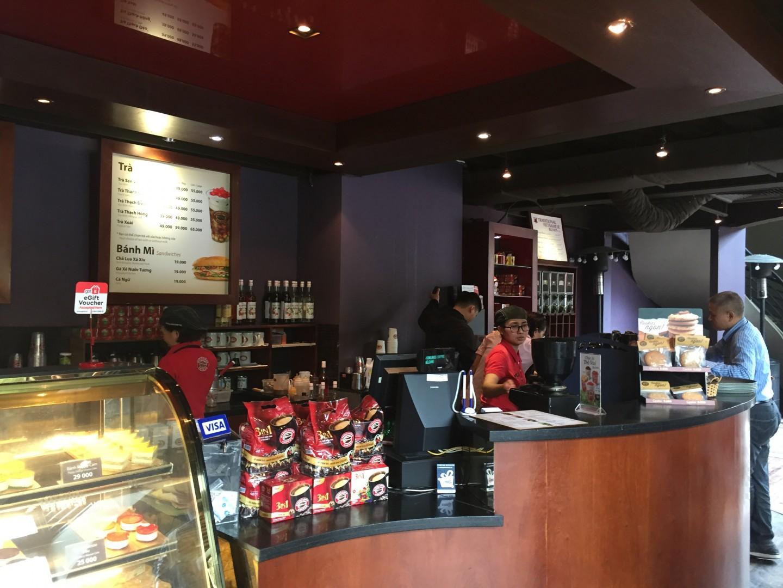 Ảnh dự án lắp đặt thiết bị tự phục vụ ở quán Highlands Coffee phố Lý Thường Kiệt