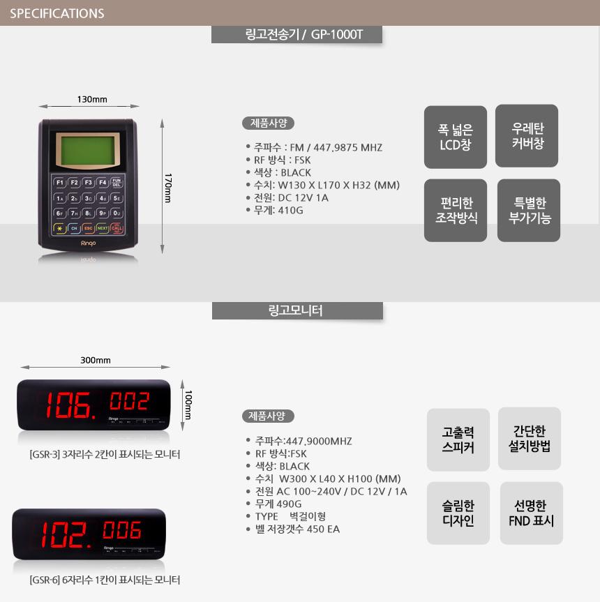 thông số kỹ thuật thiết bị báo số lấy đồ ringo gp-1000t